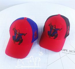 $enCountryForm.capitalKeyWord Australia - Snapbacks Cartoon Anime Designer Hats Caps Spiderman Baseball Cap Children Summer Bucket Hat Boy Girl Kids Casquette Gift For 3-7 Years