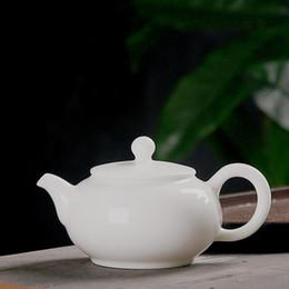 $enCountryForm.capitalKeyWord Australia - Teapot ceramic simple ball hole kung fu tea set jade white porcelain single pot tea maker well bar size teajar