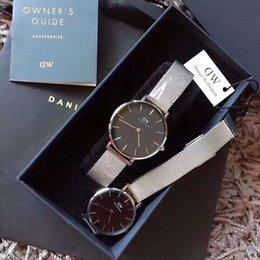 Dress Folding Australia - With Original Box New DW Luxury Daniel Wellington watches 40mm Men watches 32 Women Watches quartz watch fashion dress Famous Female Clock
