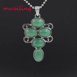Necklaces Pendants Australia - Cross Flower Necklace Pendants Reiki Pendulum Natural Gem Stone Crystal Jewelry for Women Charms Amulet European Fashion Jewelry