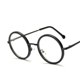 87cf2589b38 Women Round Reading Glasses Metal Frame Glasses Plain Mirror Male Female  Reading Glass
