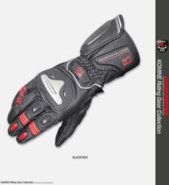 Discount titanium gloves - 2019 GK169 Komine motorcycle autumn wear-resistant leather titanium alloy gloves with precious metal alloy 6
