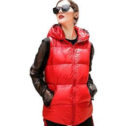 $enCountryForm.capitalKeyWord Australia - Winter Red Bright Face Down parka Jacket Female 2018 New Fashion Motion Leisurevest Vest Hooded Women warm feather Coat HJ82