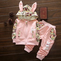 Autumn Children Set Baby Girl Toddler Australia - Cute Baby Girl Clothes Sets For Children High Qulity 2018 Autumn Long Sleeve Print Toddler Girls Baby Suit For Kid 1 2 3 4 Years J190514