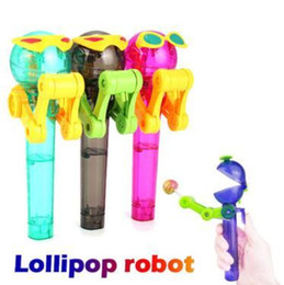 Christmas lollipop Candy online shopping - Candy Toys Creative Personality Toys Lollipop Holder Decompression Lollipop Robot Candy Holder Dustproof Toy Party Favor CCA11240