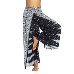 Harem Yoga Pants UK - Summer Women's Yoga Pants Thailand Indonesian Digital Print Loose Wide Leg Pants Yoga Pants Loose Harem Yoga Trousers