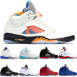 gold aqua 2019 - Basketball Shoes 5 5s Men Women Bred Light Aqua Laney Red Blue Suede White Cement Metallic Black Mens Athletic Sport Sne