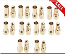 Wholesale Bullet Connectors Australia - 3.5mm Gold Bullet Banana Connector Plug For ESC Battery Motor