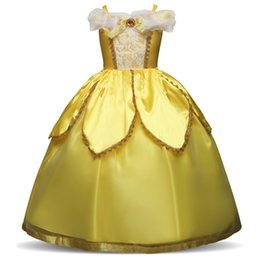 Wholesale beauty beast cosplay online – ideas 4 Y Beauty And Beast Christmas Dress For Girl s Princess Halloween Costume Party Cosplay Children Dresses Aurora Dress