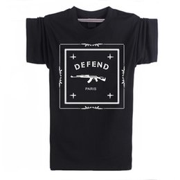 Short Sleeve Loose Tops Australia - Letters Defend Paris Cotton Short Sleeve Men T Shirt Luxury Brand White Tshirt Loose Funny T-Shirt Logo in Tops and Tees
