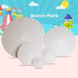 Chinese Crafts online shopping - 4styles White paper umbrellas bridal wedding parasols Chinese mini craft umbrella wedding party decor DIY blank pinting umbrellas FFA2685