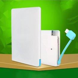 Vente en gros 3000 mah Polymère Portable Carte Extérieure Légère Charge Charge Mini Batterie Rapide Ultra-mince Banque Pour Xiaomi MI iPhone Samsung
