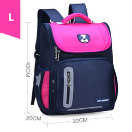 cream school NZ - 2 Size Girls Orthopaedics School Backpacks Children School Bags Orthopedic Backpack For Girl Boys Kids Satchel Knapsack Mochila