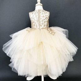 Wholesale USA Kids Baby Girls Tulle Sequin Party Pageant Bridesmaid Formal Tutu Gown Dress