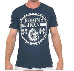 $enCountryForm.capitalKeyWord Australia - New 2018 Robin's Jean Shirts For Mens Robin Jeans Shirts 100% Cotton Robins T Shirt Hip Hop Men Short Sleeve Shirt Short M T-shirt Fash