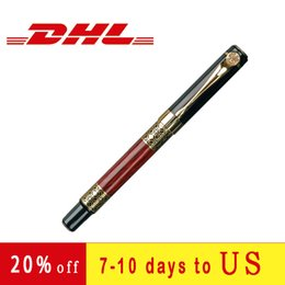 2 styles luxury fountain pen high-quality imitation mahogany pen office fashion personalized signature pen on Sale