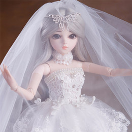 $enCountryForm.capitalKeyWord Australia - 60CM Elegant 1 3 BJD With Outfit Shoes Wigs Makeup Dolls Wedding Dress Girls Toys For Collection Reborn Doll