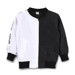 Boys red coats online shopping - Children Jacket Double Fight Color Cardigan Zipper Letter Weave Baseball Uniform Boy Designer Jacket Girl Coat