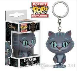 $enCountryForm.capitalKeyWord NZ - Cute present low price Discout Funko Pocket POP Keychain -big eyes cat Vinyl Figure Keyring with Box Toy Gift Good Quality Free Shipping 575