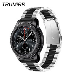 $enCountryForm.capitalKeyWord Australia - Trumirr Unique Stainless Steel Watchband + Link Remover For Samsung Gear S3 Galaxy Watch 46mm Wrist Band Sports Strap Wristband T190620