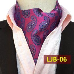 7d14d4538bfc Handmade Ascot Australia - Luxury Men Classic Paisley Flower Long Cravat  Ascot Ties Silk Cravat Ties