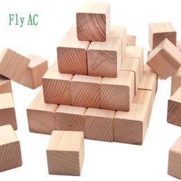 $enCountryForm.capitalKeyWord Australia - Blocks 100 pcs set High quality Beech Cubic Brick Game 2.5cm Cubes DIY color Blocks Wooden Educational Toys For Baby Children