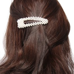 Metal clips for hair accessories online shopping - Fashion Pearl Women Hair Clips Women Hairpins Girls Snap Metal Hair Clip Pin for Hairs Clamp Stick Barrette Ornament Accessories