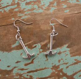 $enCountryForm.capitalKeyWord Australia - New Style Ancient Silver Mini Hardware Gadgets Hammer Earrings Ear Hook Personality Creative Women Jewelry Popular Hot Valentine's Day Gifts