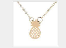 stylish gold pendant chain NZ - Stylish and exquisite versatile chain clavicle chain small and cute fruit pendant