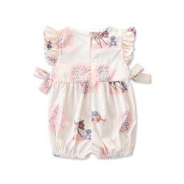 $enCountryForm.capitalKeyWord Australia - Fashion 2019 Baby Girl summer clothing cute Deer Flower cotton soft Romper Jumpsuit for newborn infant clothes children kid C12