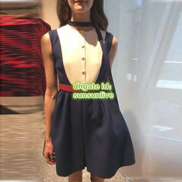 $enCountryForm.capitalKeyWord Australia - 2019 Women Brand Mini Dress With Belt Ribbon High-End Custom Sleeveless Shirt Mini Above Knee Summer Dress 2019