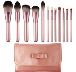 makeup brushes small set NZ - New 12pcs small grape makeup brush Microcrystalline professional small grape makeup brush set 2 Colors DHL 10SET