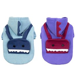 christmas outfits for dogs UK - Halloween Pet Dog Clothes Robot Christmas Coat Winter Cotton Soft Warm Cute Hat Clothing Sweatshirt for Small Pet Outfit