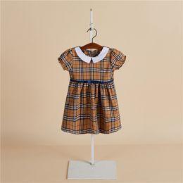 $enCountryForm.capitalKeyWord NZ - Hot sale frock kids girls dresses summer white collar children clothing short sleeve pattern cute princess party dress