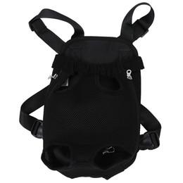 Black Carrier Bags Australia - Black Dog Pet Cat Carrier Backpack Bag Net Adjustable M