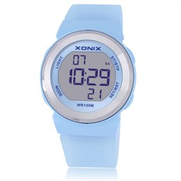 Ladies hand cLocks online shopping - Hot Top Fashion Women Sports Watches Waterproof m Ladies Jelly LED Digital Watch Swimming Diving Hand Clock Montre