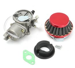 quad cylinder UK - Colourful Carburetor Carb Carby Steel 44mm Air Filter Stack For 47cc 49cc Mini Moto Dirt Pocket Bike Atv Quad Go Kart Minimoto