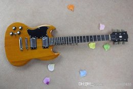 Sg guitar color online shopping - Custom mahogany High quality Good sound LEFT Hand SG Wood color Electric guitar DFSE