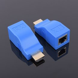 ethernet transmitter 2019 - 4K1080P 30 meter 1 Pair HDMI Extender to RJ45 Transmitter Receiver TX RX Over Cat 5e 6 LAN Network Ethernet Adapter Cabl
