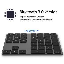 $enCountryForm.capitalKeyWord Australia - Bluetooth Number Pad Keyboard Numeric Mini 34 Keys Aluminum Alloy for iOS Android JR Deals