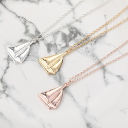 sailing jewelry NZ - 30pcs Cute Sail Boat Ship Pattern Pendant Necklace Sailing Vessel Yacht Charm Jewelry Necklace for Gift