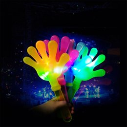 Wholesale 28cm Flash LED Luminescent hands clap luminous party supplies light hand clapping device luminous toys Concert party cheering props Q0154