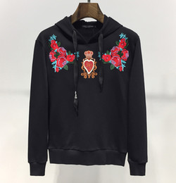 floral hoodies Canada - Brand Mens Women Hoodies D King Floral Heart Embroidery Black Sweatshirt Long Sleeve Pullover Casual Street Luxury Hoodies Blouse B105258L