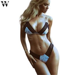 Design Straps Bra Australia - Womail plus size women bra set sexy deep V-neck design Push-Up Mesh bandage swimsuit ink dot printing Bra set 2pcs Summer 2019