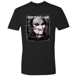 Game saw online shopping - Saw I Want To Play A Game Horrible Men T Shirt