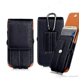 Leather Belt Holster Case NZ - For Iphone XR XS MAX X 8 7 6S plus Luxury Universal Holster Belt Clip Waist Man Leather phone case pouch Bag for samsung S8 S9 PLUS note 8 9