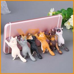$enCountryForm.capitalKeyWord Australia - Cute Cat Cell Phone Holder Stand Tablets Desk Car Stand Mount Sucker Grip Bracket For Universal Smartphone iPhone Samsung
