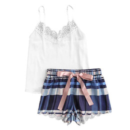$enCountryForm.capitalKeyWord UK - Fashion Girls Cute Lace Leopard Print Underwear And Shorts Pajama Set Girls lace lingerie Sexy Everyday Camis sleepwear Set
