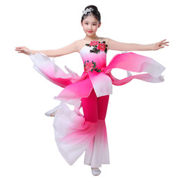 girls chinese costumes Australia - Children's classical dance dance clothes girls elegant chiffon performance costumes traditional chinese costume