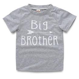 170d01ff82 Baby Kids Girls Boy Short Sleeve Cotton T-shirts Top Letter print Big  Brother Sister 2Style LJJS126